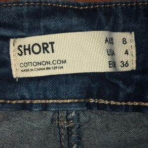 Cotton On Shorts - Cotton On mid rise denim shorts, size 4.